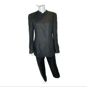 Fabulous Vintage Giorgio Armani Black Linen Suit